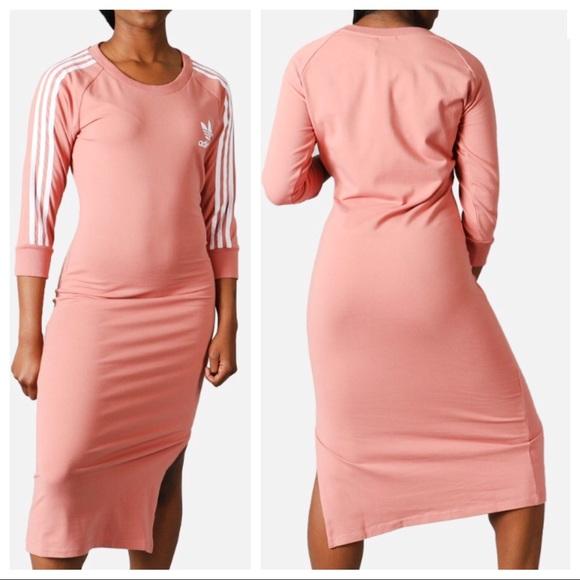 e308aa9ecc adidas Dresses   Skirts - ADIDAS 3 STRIPES BODY CON MIDI DRESS